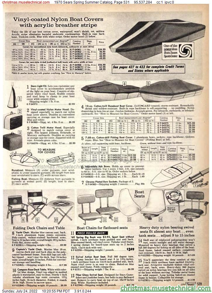 1970 Sears Spring Summer Catalog, Page 531