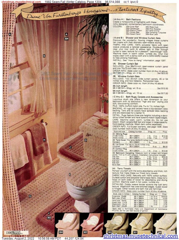 1982 Sears Fall Winter Catalog, Page 1304