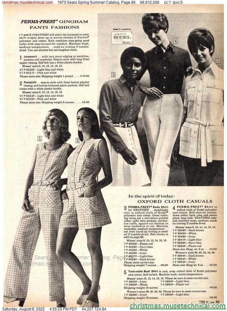 1970 Sears Spring Summer Catalog, Page 89