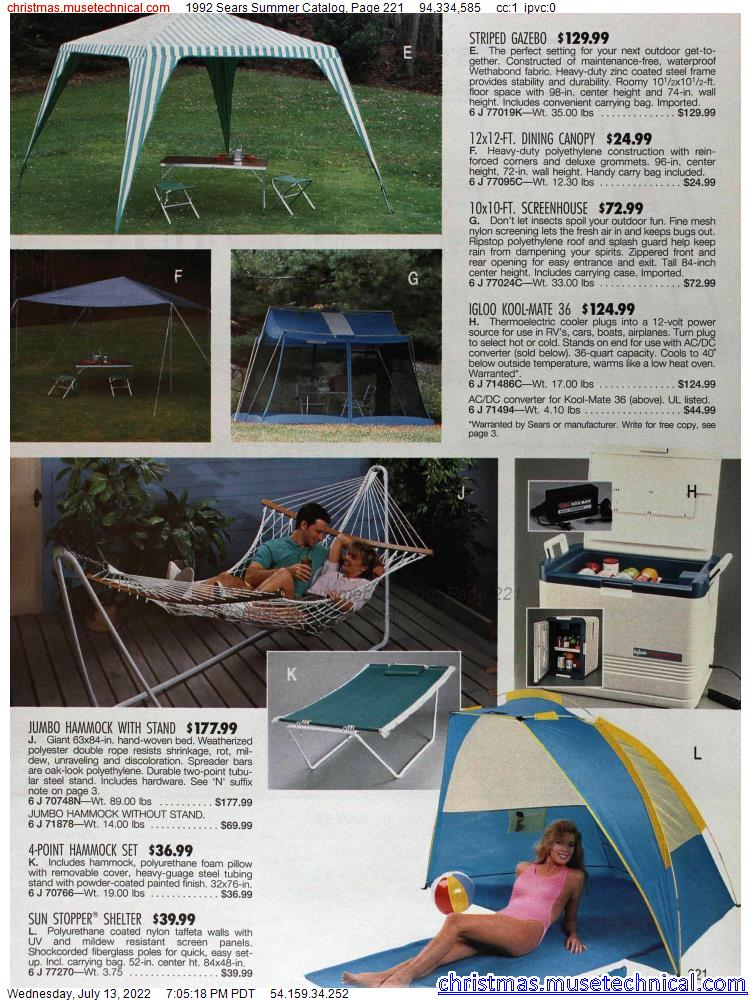 1992 Sears Summer Catalog, Page 221