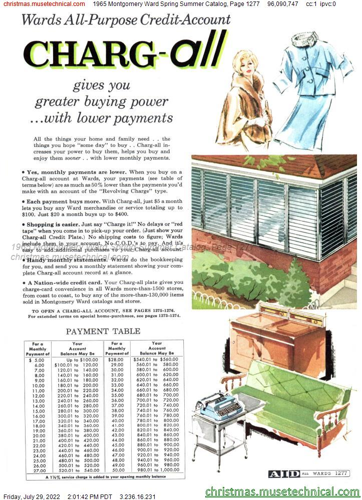 1965 Montgomery Ward Spring Summer Catalog, Page 1277