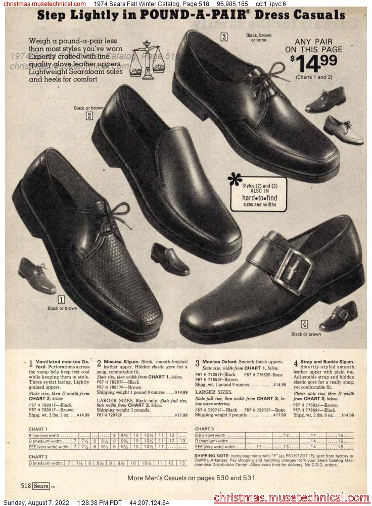 1974 Sears Fall Winter Catalog, Page 518
