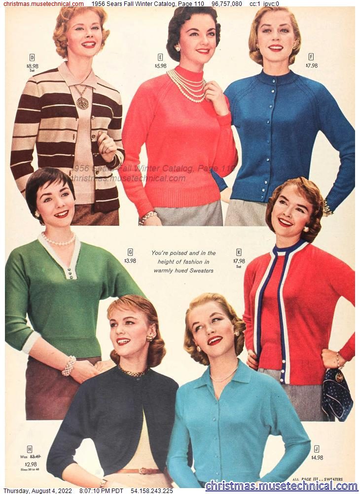 1956 Sears Fall Winter Catalog, Page 110