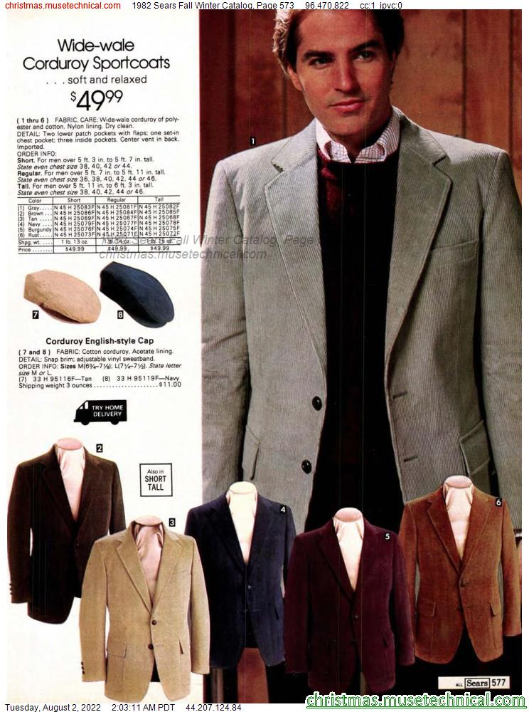 1982 Sears Fall Winter Catalog, Page 573
