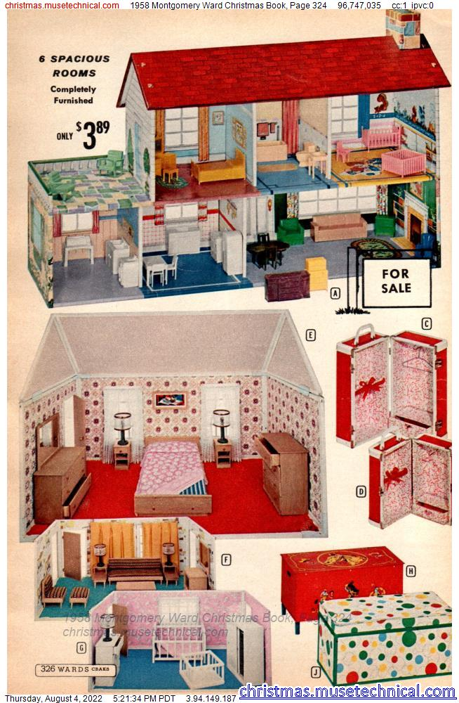 1958 Montgomery Ward Christmas Book, Page 324