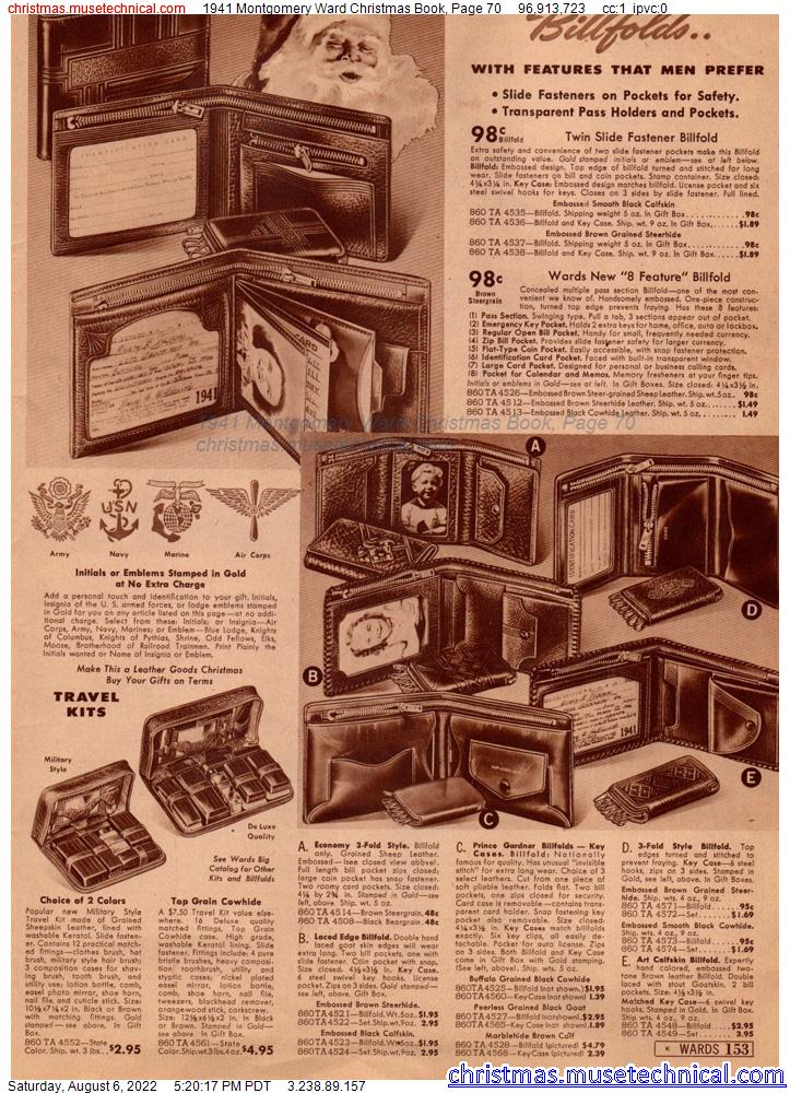 1941 Montgomery Ward Christmas Book, Page 70