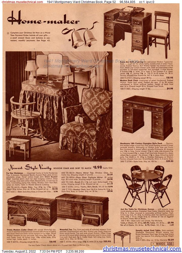 1941 Montgomery Ward Christmas Book, Page 52