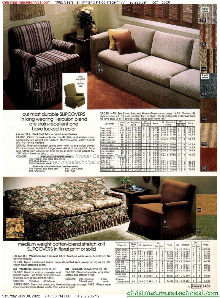 1982 Sears Fall Winter Catalog, Page 1477