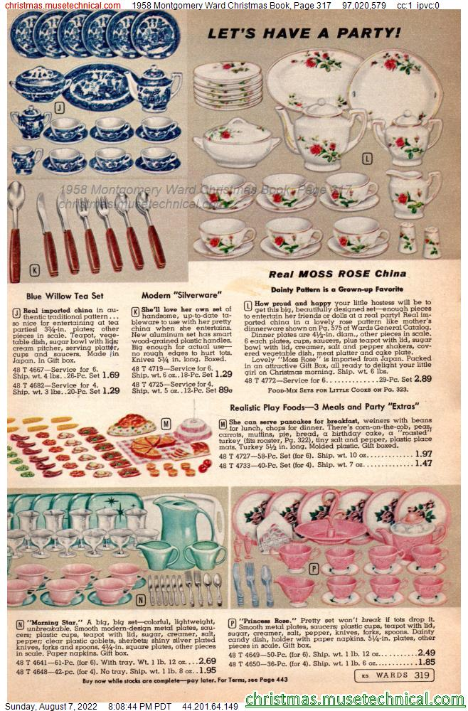 1958 Montgomery Ward Christmas Book, Page 317