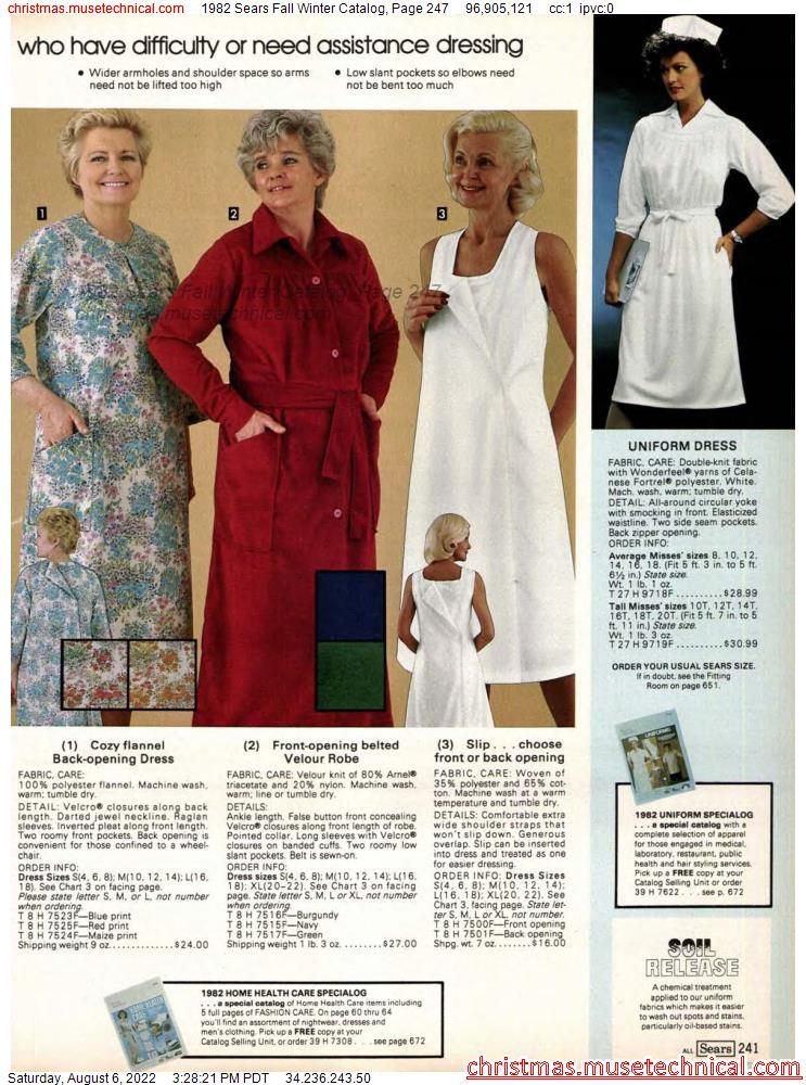 1982 Sears Fall Winter Catalog, Page 247