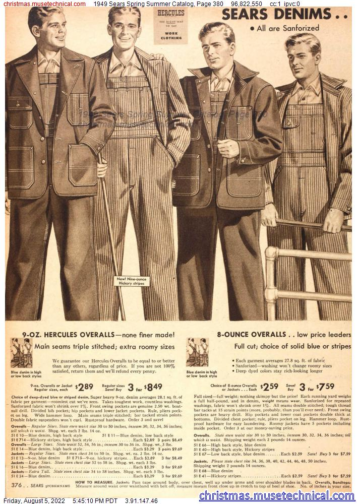 1949 Sears Spring Summer Catalog, Page 380