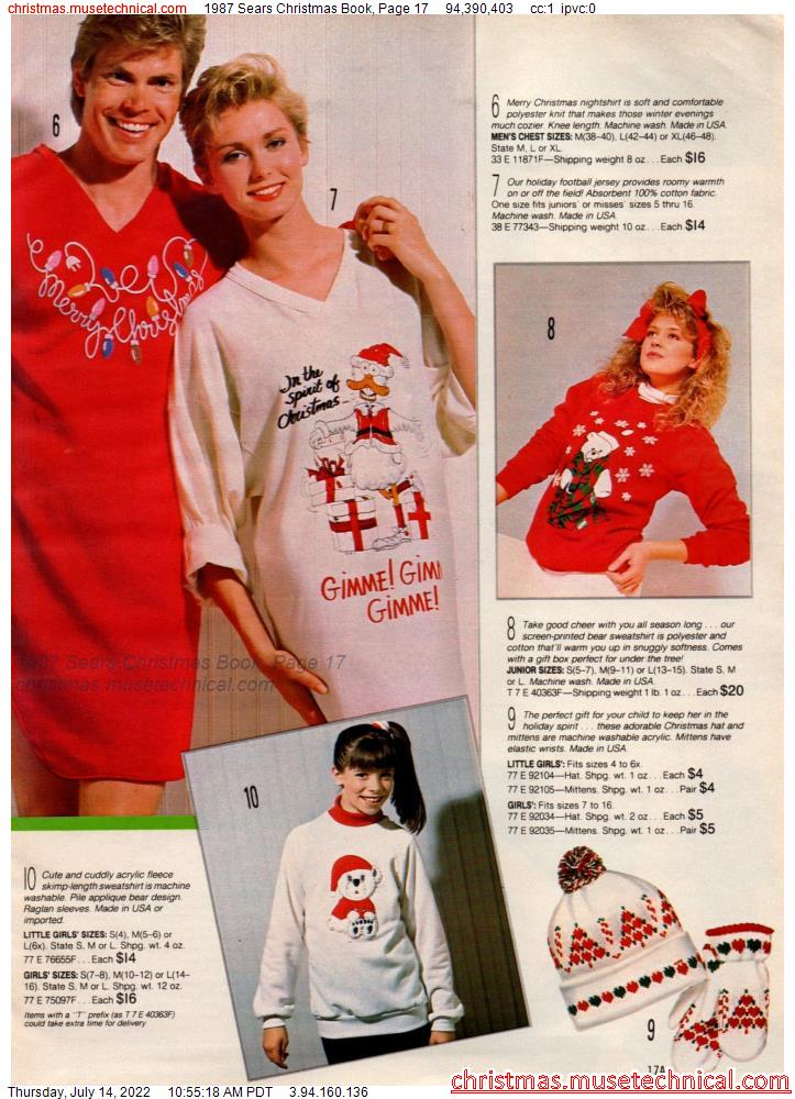 1987 Sears Christmas Book, Page 17