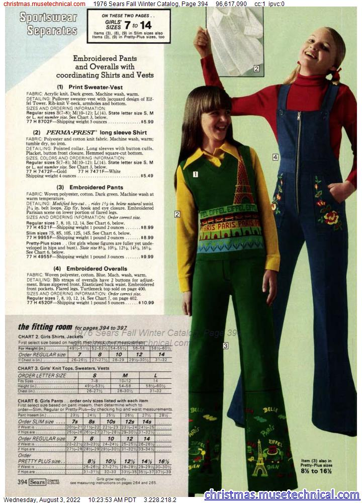 1976 Sears Fall Winter Catalog, Page 394