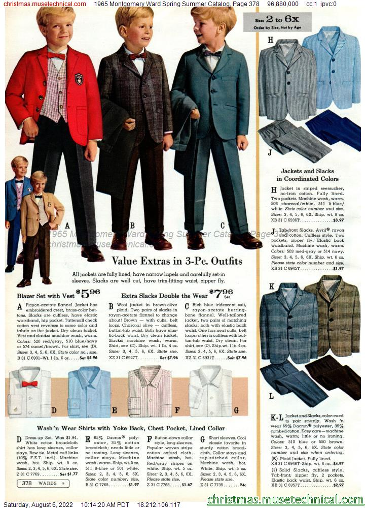 1965 Montgomery Ward Spring Summer Catalog, Page 378