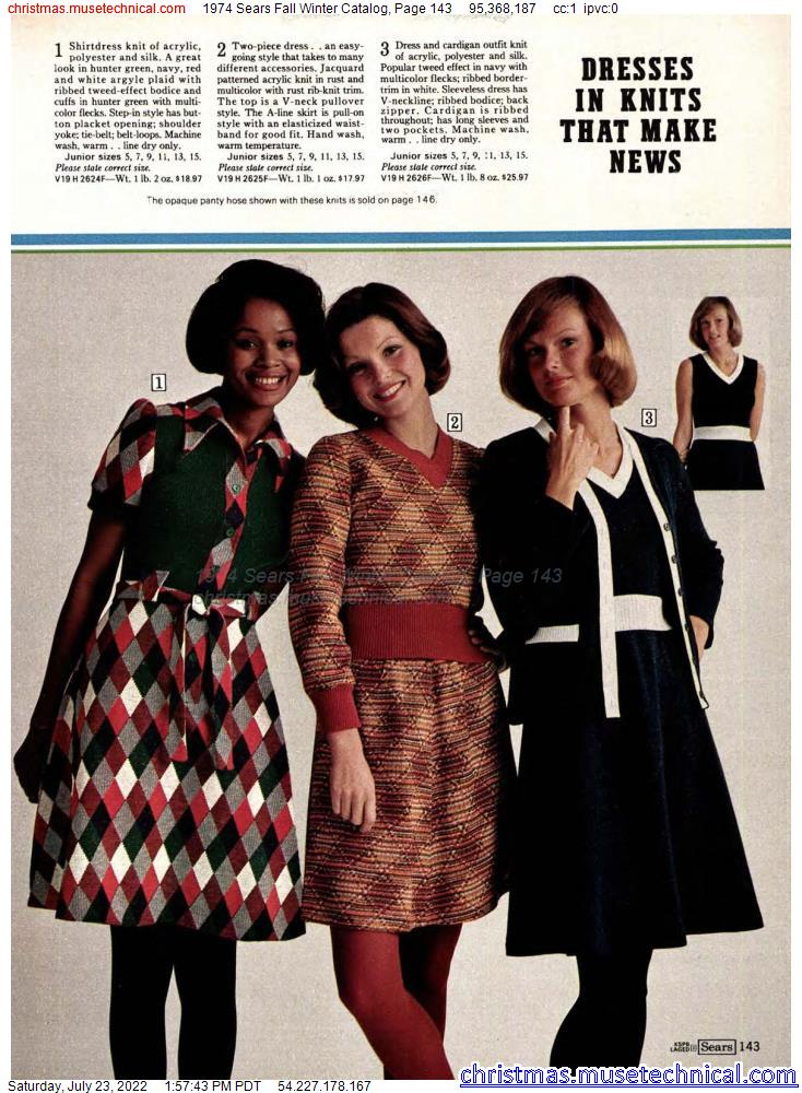 1974 Sears Fall Winter Catalog, Page 143