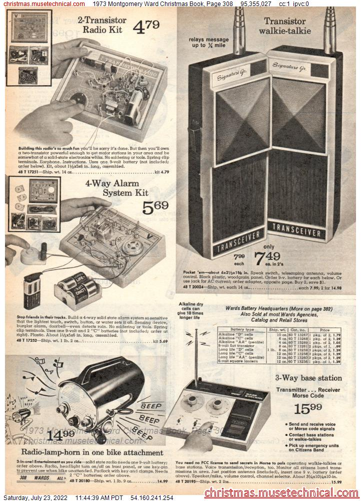1973 Montgomery Ward Christmas Book, Page 308