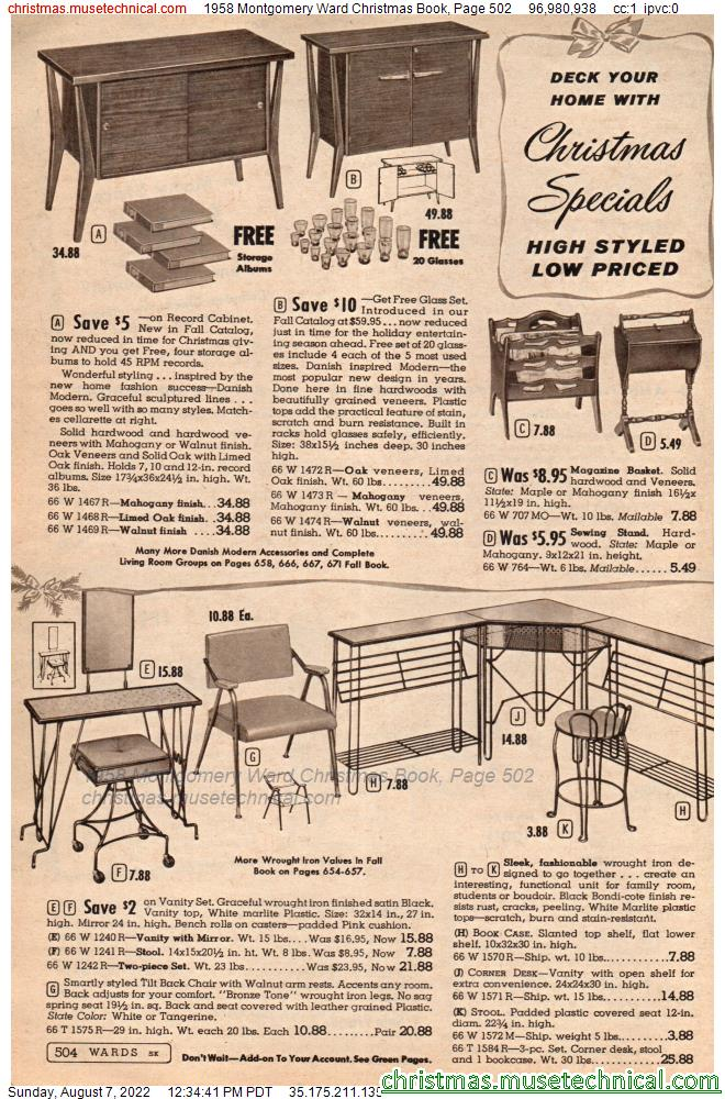 1958 Montgomery Ward Christmas Book, Page 502
