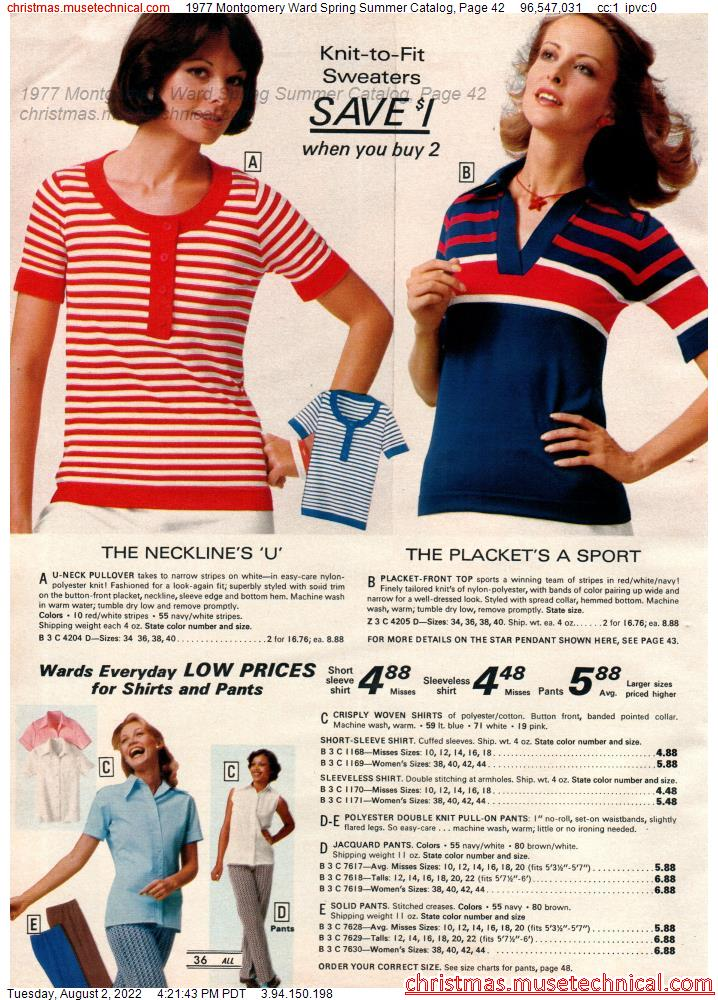 1977 Montgomery Ward Spring Summer Catalog, Page 42