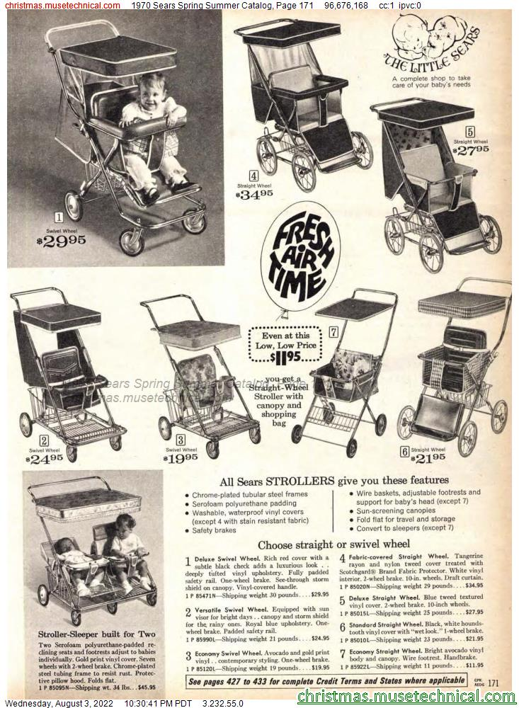 1970 Sears Spring Summer Catalog, Page 171