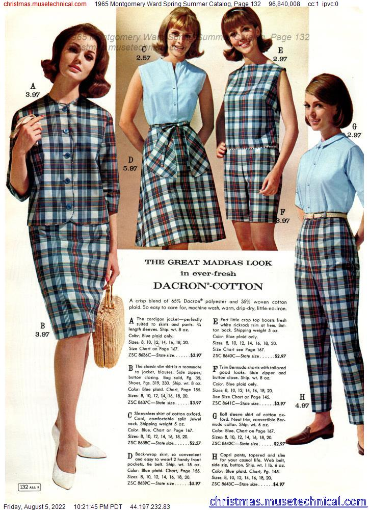 1965 Montgomery Ward Spring Summer Catalog, Page 132