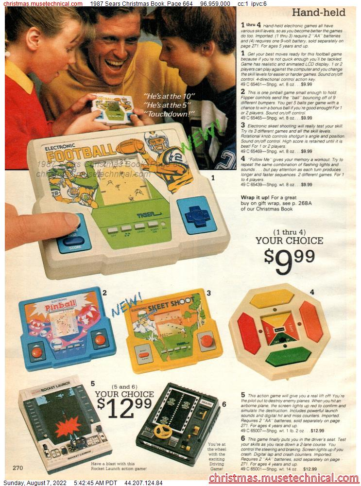 1987 Sears Christmas Book, Page 664