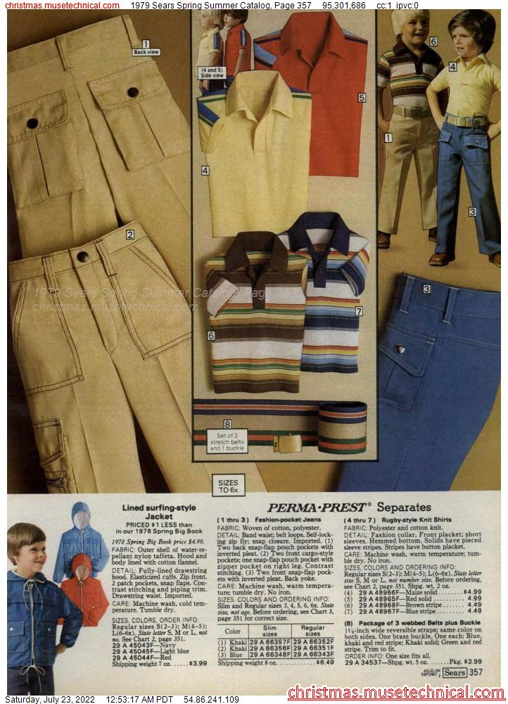 1979 Sears Spring Summer Catalog, Page 357