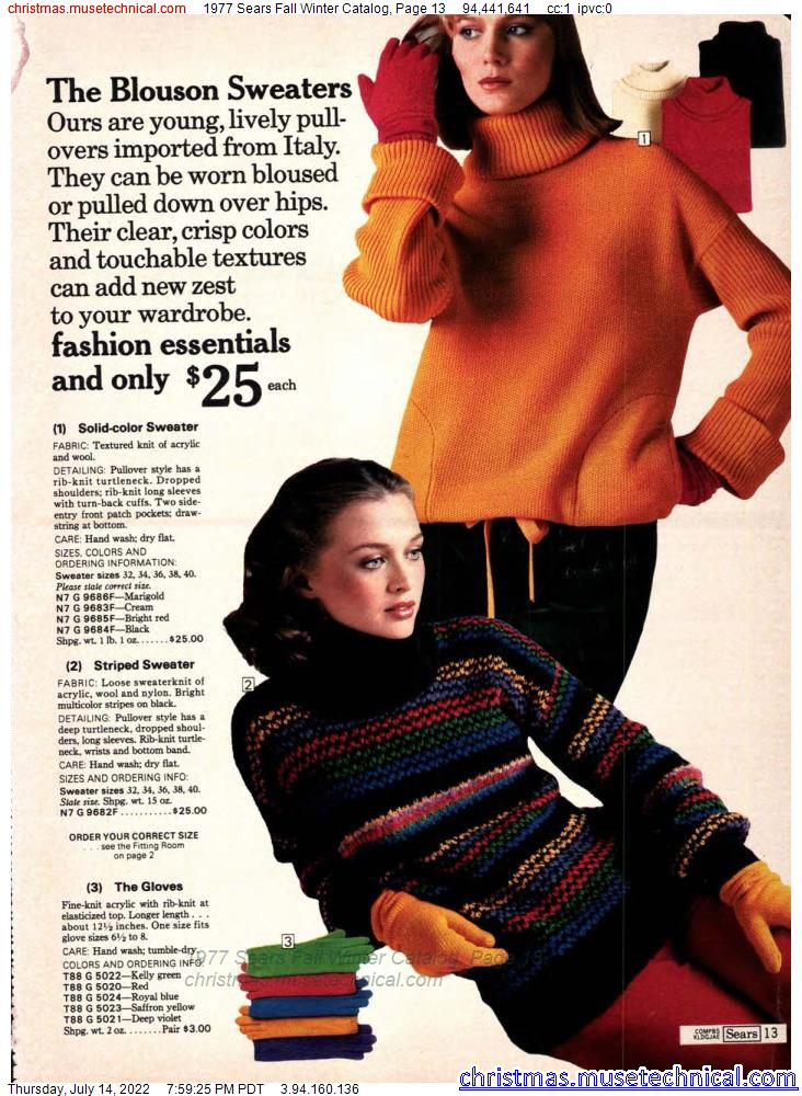 1977 Sears Fall Winter Catalog, Page 13