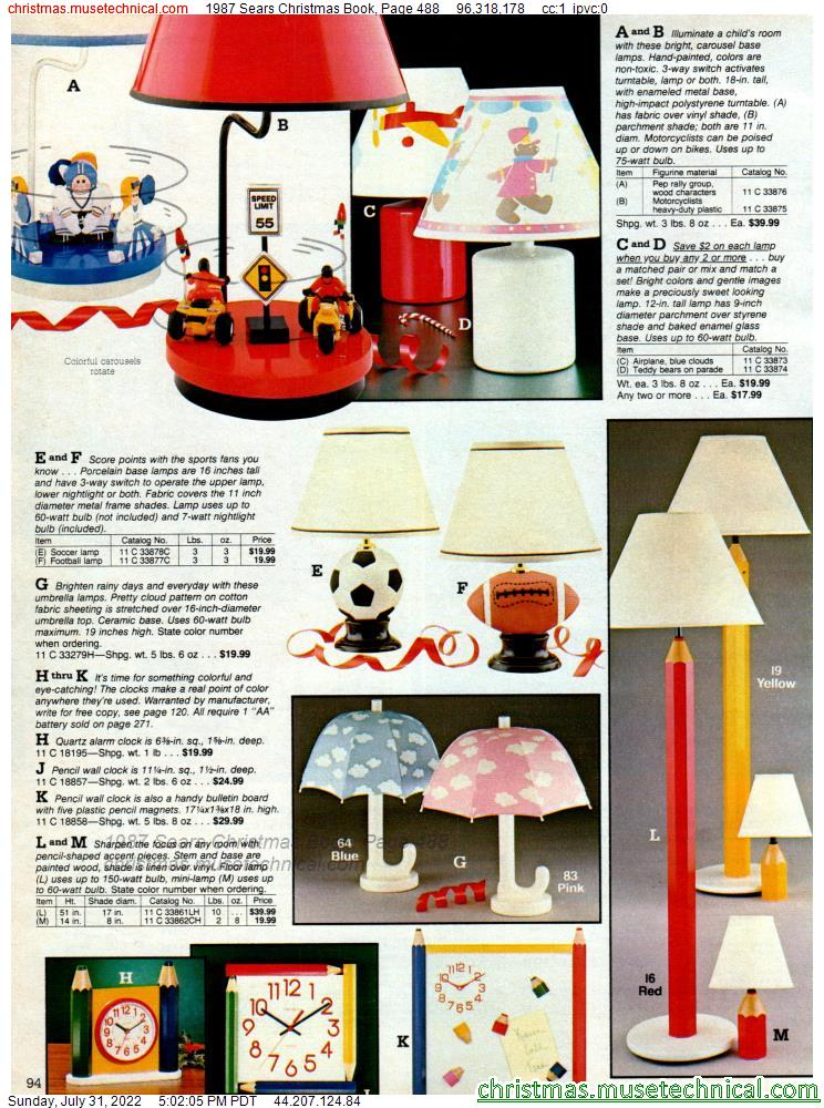 1987 Sears Christmas Book, Page 488