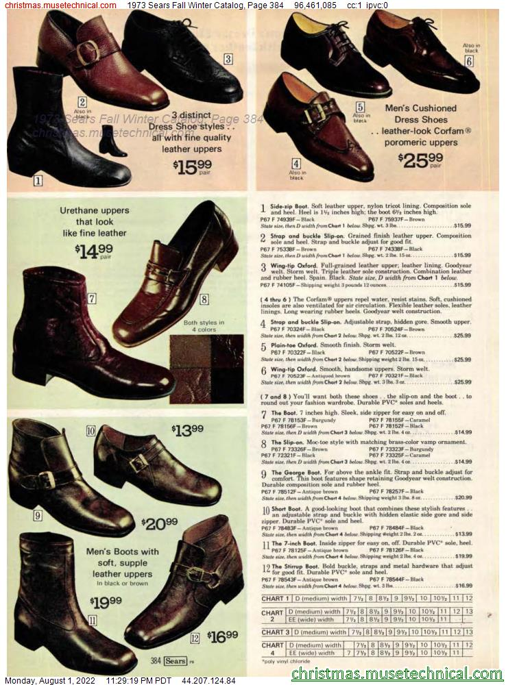1973 Sears Fall Winter Catalog, Page 384