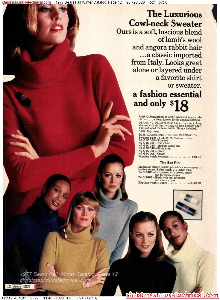1977 Sears Fall Winter Catalog, Page 12