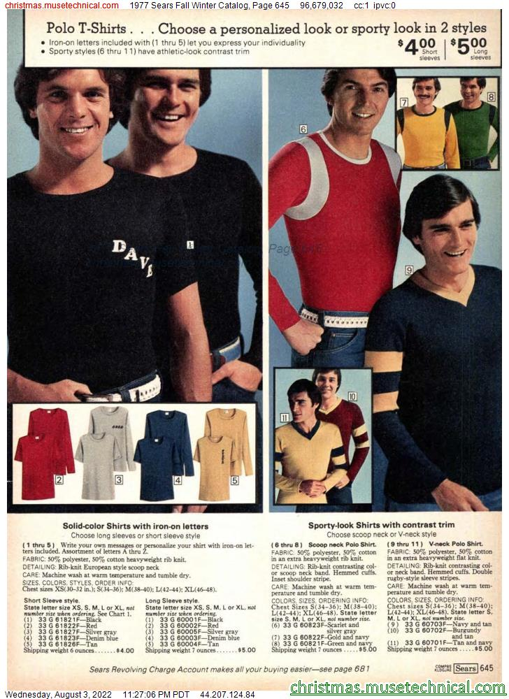 1977 Sears Fall Winter Catalog, Page 645