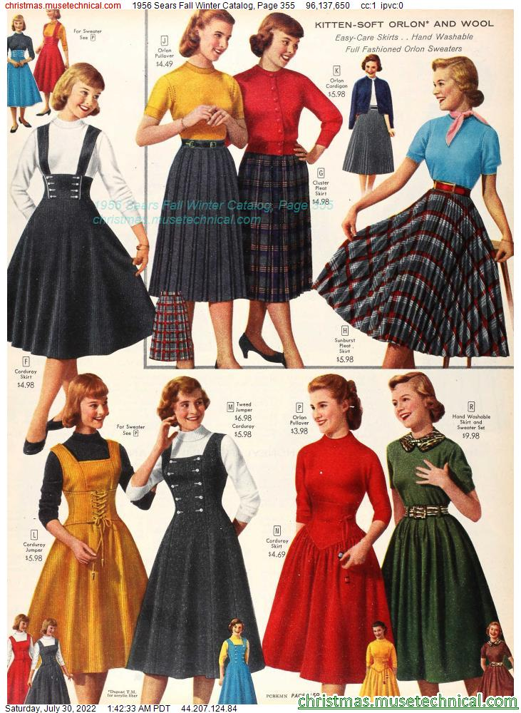 1956 Sears Fall Winter Catalog, Page 355
