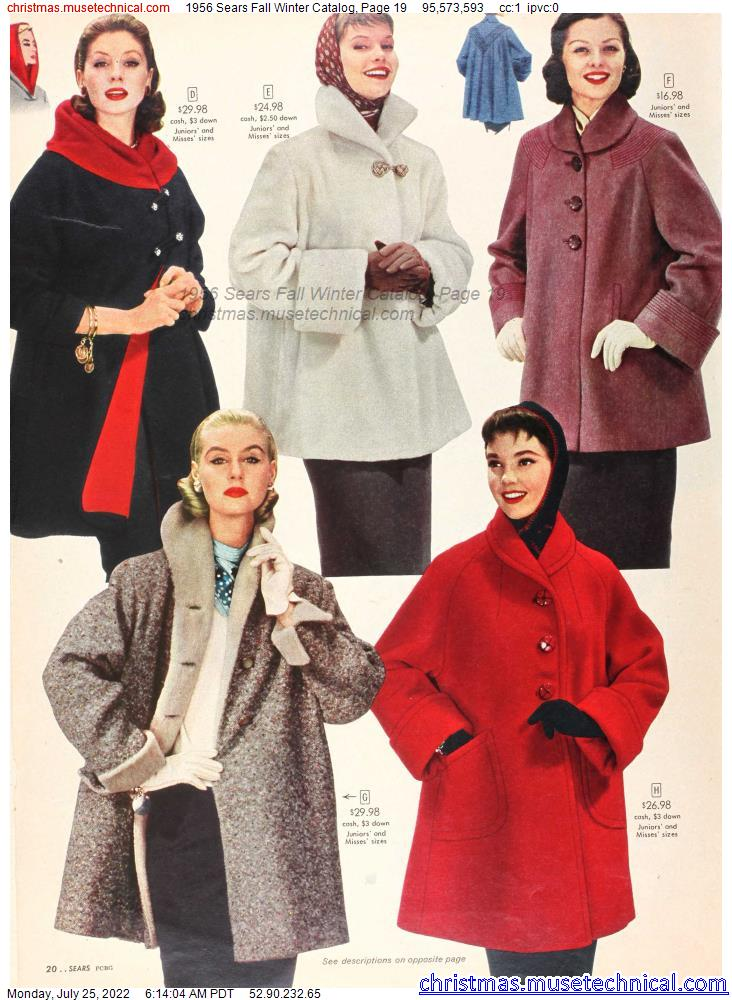 1956 Sears Fall Winter Catalog, Page 19