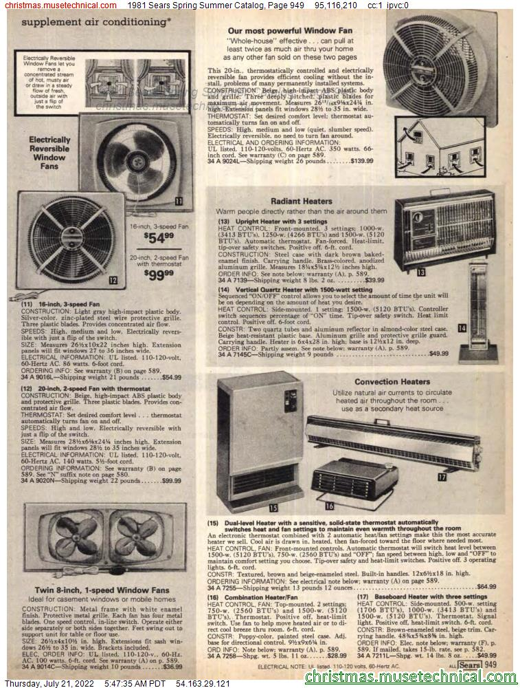 1981 Sears Spring Summer Catalog, Page 949
