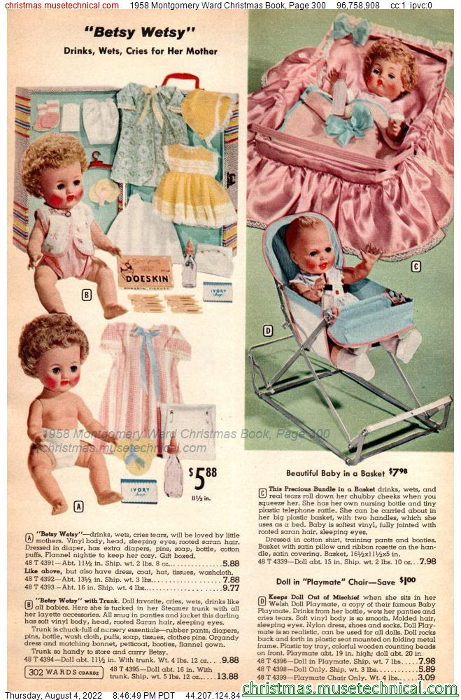 1958 Montgomery Ward Christmas Book, Page 300