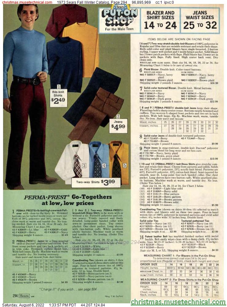 1973 Sears Fall Winter Catalog, Page 294