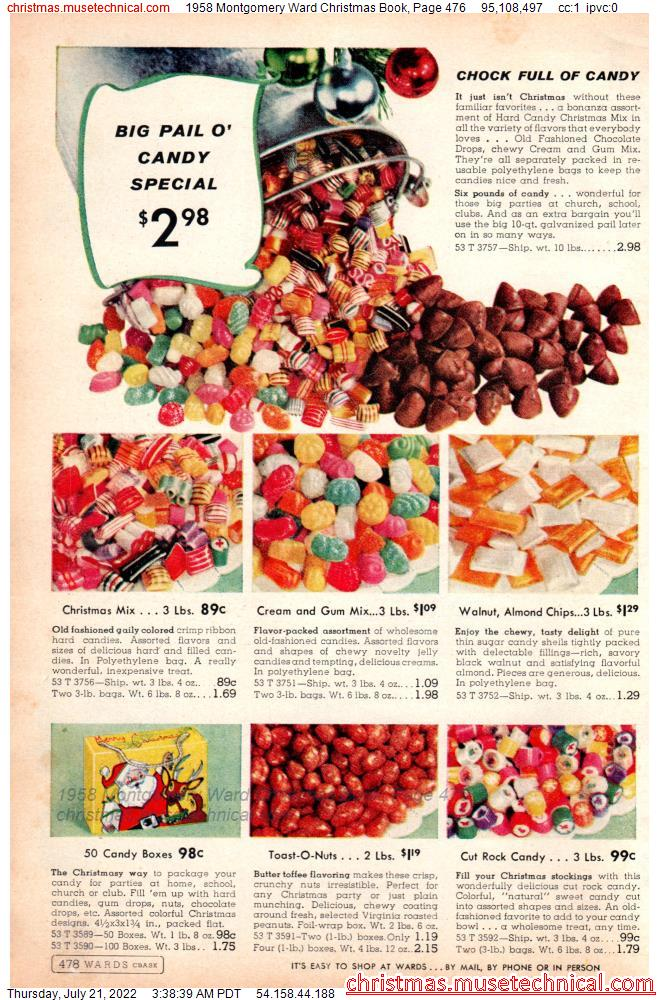 1958 Montgomery Ward Christmas Book, Page 476