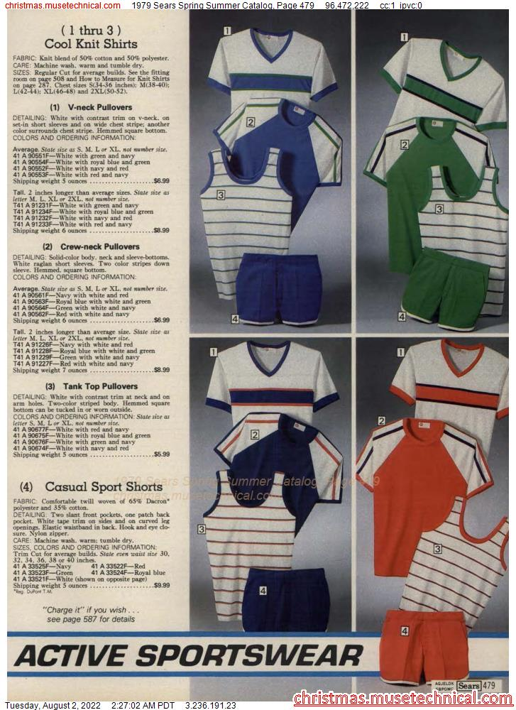 1979 Sears Spring Summer Catalog, Page 479