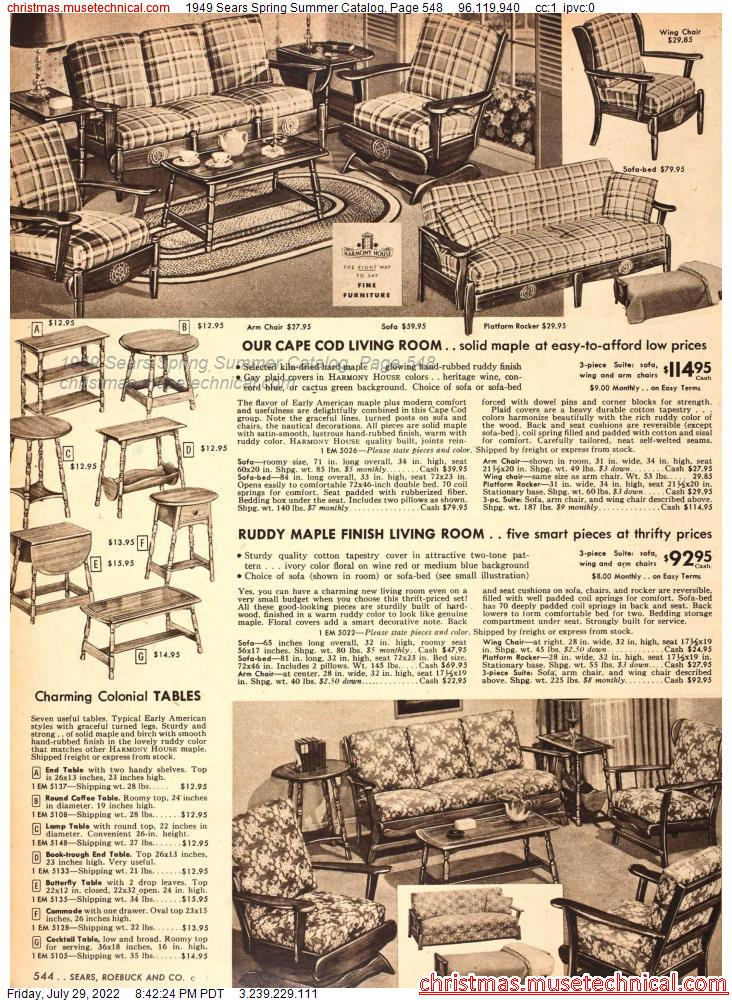 1949 Sears Spring Summer Catalog, Page 548