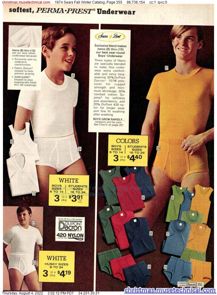1974 Sears Fall Winter Catalog, Page 355
