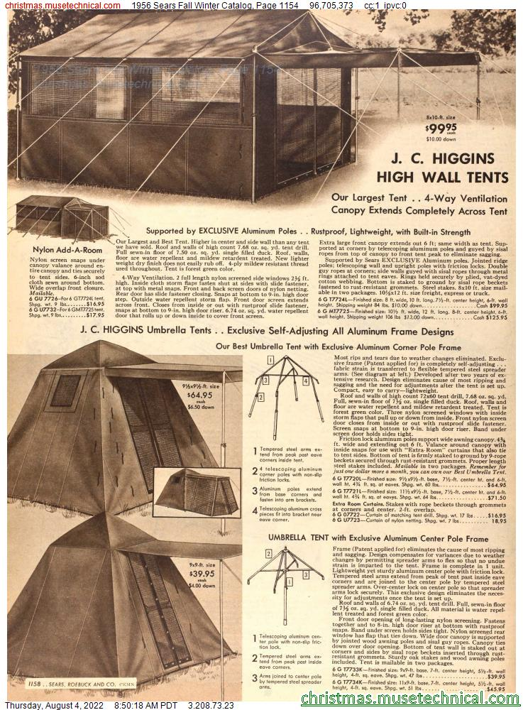 1956 Sears Fall Winter Catalog, Page 1154