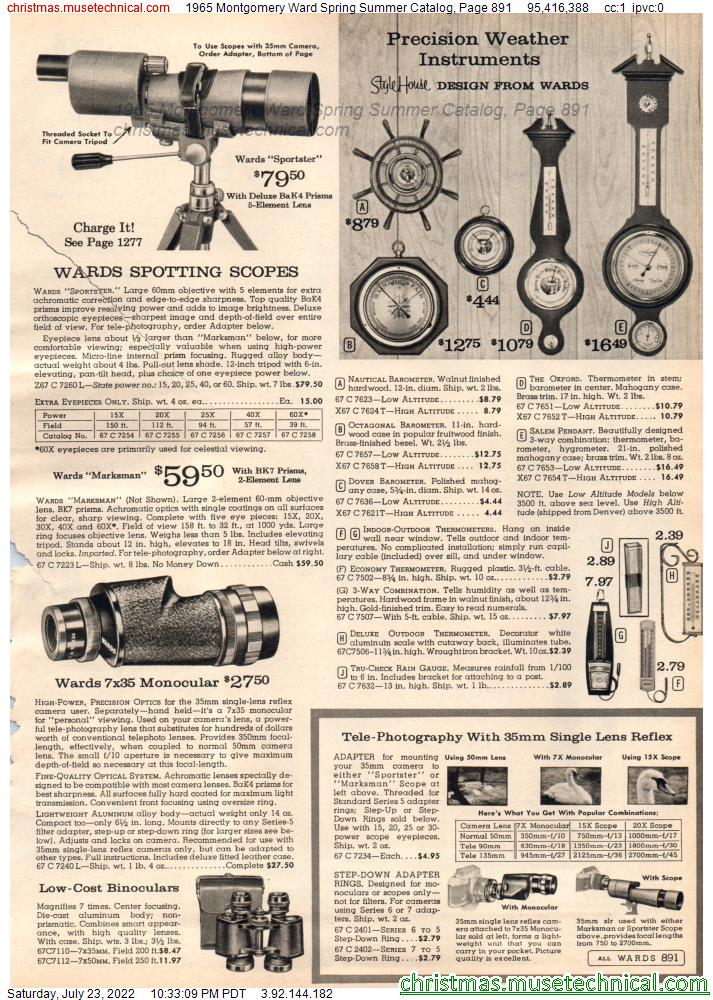 1965 Montgomery Ward Spring Summer Catalog, Page 891