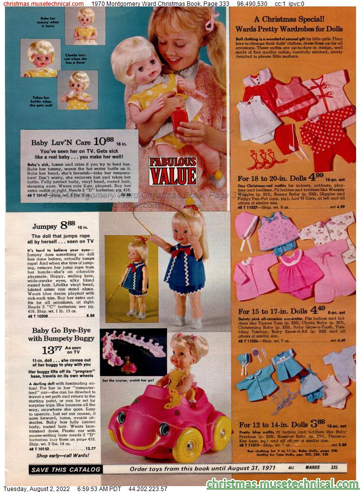 1970 Montgomery Ward Christmas Book, Page 333