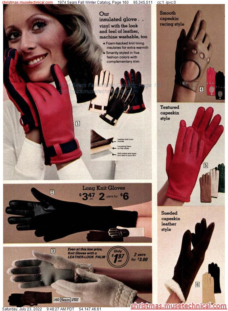 1974 Sears Fall Winter Catalog, Page 160