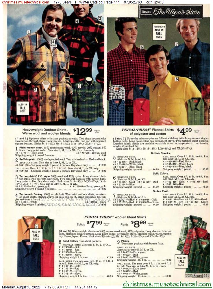 1973 Sears Fall Winter Catalog, Page 441