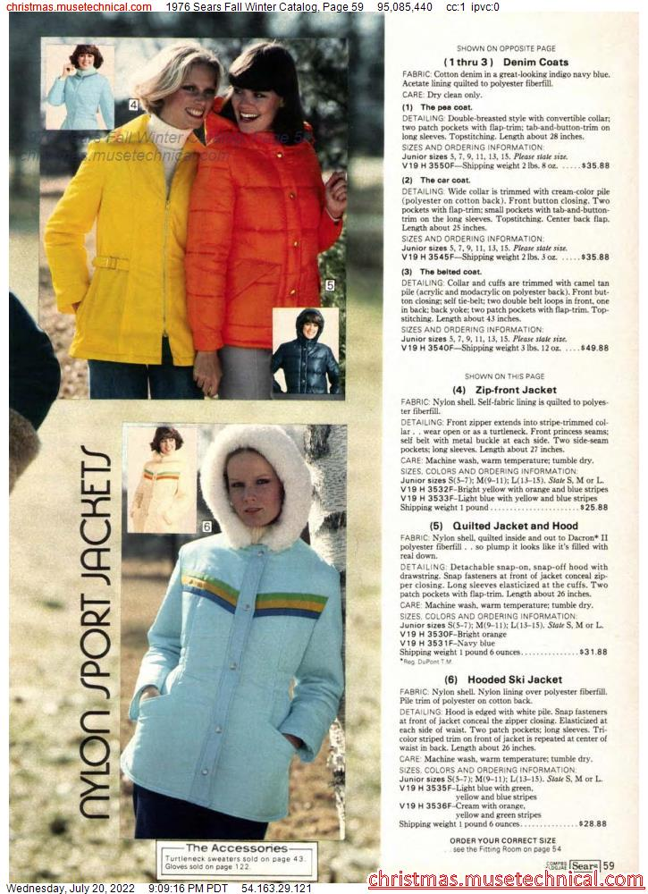 1976 Sears Fall Winter Catalog, Page 59