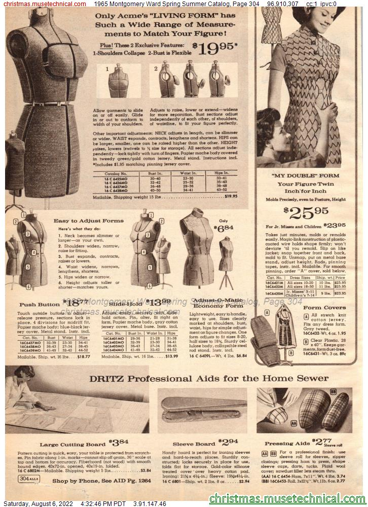 1965 Montgomery Ward Spring Summer Catalog, Page 304