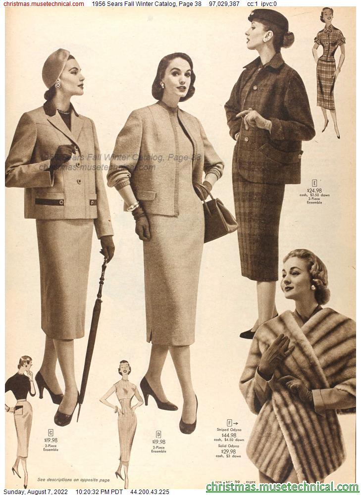 1956 Sears Fall Winter Catalog, Page 38