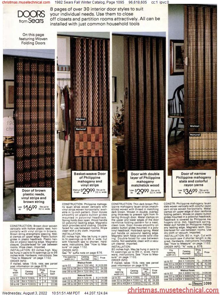 1982 Sears Fall Winter Catalog, Page 1095
