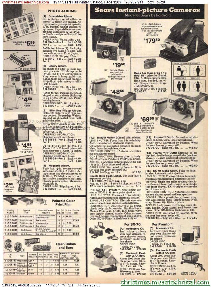 1977 Sears Fall Winter Catalog, Page 1203
